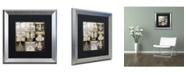 "Trademark Global Color Bakery 'Danse Paree' Matted Framed Art - 16"" x 16"""