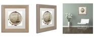 "Trademark Global Color Bakery 'Paris in Frames 3' Matted Framed Art - 11"" x 11"""