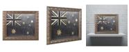 "Trademark Global Color Bakery 'Fashion Flag III' Ornate Framed Art - 11"" x 14"""
