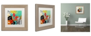 "Trademark Global Color Bakery 'Bali II' Matted Framed Art - 11"" x 11"""