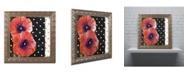 "Trademark Global Color Bakery 'Scarlet Poppies II' Ornate Framed Art - 16"" x 16"""