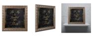 "Trademark Global Color Bakery 'Moon and Back III' Ornate Framed Art - 11"" x 11"""