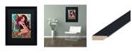 "Trademark Global Natasha Wescoat 'Rainbow Angel' Matted Framed Art - 16"" x 20"""