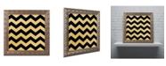 """Trademark Global Color Bakery 'Xmas Chevron 5' Ornate Framed Art - 11"""" x 11"""""""