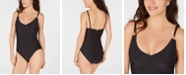 Calvin Klein Shirred Underwire One-Piece Swimsuit