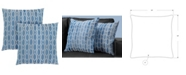"""Monarch Specialties 18"""" x 18"""" Wave Pattern Pillow, Set Of 2"""