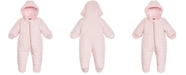 S Rothschild & CO Baby Girls Hooded Quilted-Heart Footed Pram With Faux-Fur Trim