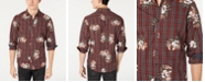 INC International Concepts INC Men's Plaid Floral Shirt, Created for Macy's