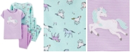 Carter's Toddler Girls 4-Pc. Cotton Unicorn Pajama Set