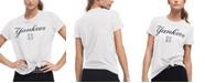 DKNY Women's New York Yankees Players Tie T-shirt