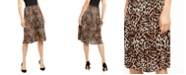 INC International Concepts INC Printed Leopard Midi Skirt, Created for Macy's