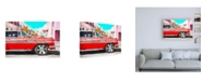 "Trademark Global Philippe Hugonnard Red Cadillac Canvas Art - 27"" x 33.5"""