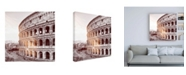 "Trademark Global Philippe Hugonnard Dolce Vita Rome 3 Colosseum IV Canvas Art - 15.5"" x 21"""