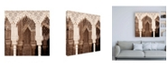 """Trademark Global Philippe Hugonnard Made in Spain 3 Arabic Arches in Alhambra II Canvas Art - 19.5"""" x 26"""""""