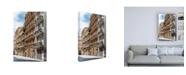 "Trademark Global Philippe Hugonnard Made in Spain Buildings Facades of Valencia III Canvas Art - 15.5"" x 21"""
