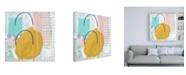 "Trademark Global Chariklia Zarris Lollipop Abstract III Canvas Art - 36.5"" x 48"""