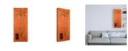 "Trademark Global Pablo Esteban Ornamental Grass on Orange Canvas Art - 36.5"" x 48"""