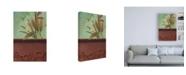 "Trademark Global Pablo Esteban Greenery with Blue Background Canvas Art - 15.5"" x 21"""