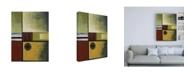 "Trademark Global Pablo Esteban Squares and Stripes Canvas Art - 36.5"" x 48"""