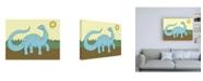 "Trademark Global Pam Ilosky Prehistoric Playtime IV Childrens Art Canvas Art - 19.5"" x 26"""