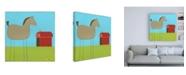 "Trademark Global June Erica Vess Stick leg Horse I Childrens Art Canvas Art - 36.5"" x 48"""