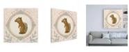 "Trademark Global June Erica Vess Forest Cameo II Canvas Art - 36.5"" x 48"""
