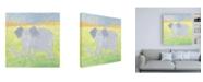 "Trademark Global Megan Meagher Quinns Elephant Canvas Art - 15.5"" x 21"""