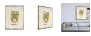 "Trademark Global June Erica Vess The Hoots II Canvas Art - 36.5"" x 48"""