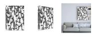 """Trademark Global Charles Swinford Penguin Family II Canvas Art - 36.5"""" x 48"""""""