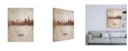 "Trademark Global Michael Tompsett London England Rust Skyline Canvas Art - 27"" x 33.5"""