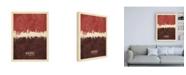 "Trademark Global Michael Tompsett Newcastle England Skyline Reds Canvas Art - 15.5"" x 21"""