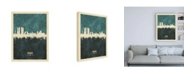 "Trademark Global Michael Tompsett Madrid Spain Skyline Teal Canvas Art - 15.5"" x 21"""