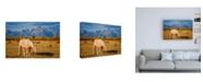 "Trademark Global Darren White Photography Breakfast in the Tetons Canvas Art - 19.5"" x 26"""
