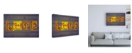 "Trademark Global Design Turnpike NM State Love Canvas Art - 36.5"" x 48"""