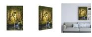 "Trademark Global Dan Craig The Telling Pool Canvas Art - 27"" x 33.5"""