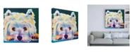 "Trademark Global DawgArt Westie Chispy 2 Canvas Art - 15.5"" x 21"""