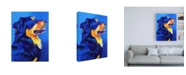 "Trademark Global DawgArt English Shepherd Donut Canvas Art - 15.5"" x 21"""