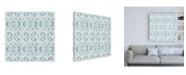 "Trademark Global Pela Studio Bazaar Patchwork Pattern IVC Canvas Art - 15.5"" x 21"""
