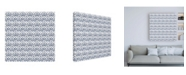 "Trademark Global Pela Studio Bazaar Patchwork Pattern VB Canvas Art - 15.5"" x 21"""