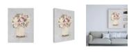 "Trademark Global Cheri Blum Parlor Roses II Sage Canvas Art - 36.5"" x 48"""