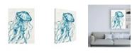 "Trademark Global Anne Tavoletti Deep Sea X V2 Teal Canvas Art - 15.5"" x 21"""