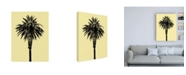 "Trademark Global Erik Asl Palm Tree 1996 (Yellow) Canvas Art - 36.5"" x 48"""