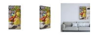 "Trademark Global Stephanie Aguila Chickadee with Bonsai Canvas Art - 15.5"" x 21"""