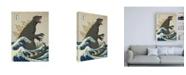 "Trademark Global Michael Buxto The Great Monster off Kanagawa Canvas Art - 19.5"" x 26"""