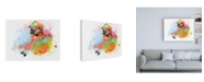 "Trademark Global Niya Christin Happy House Canvas Art - 19.5"" x 26"""