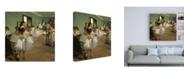 "Trademark Global Edgar Dega The Dance Class Canvas Art - 36.5"" x 48"""