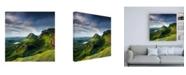 "Trademark Global Lynne Dougla Summer on the Quiraing Canvas Art - 36.5"" x 48"""