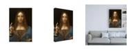 "Trademark Global Leonardo Da Vinc Salvator Mundi Canvas Art - 19.5"" x 26"""