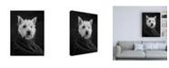 "Trademark Global Edward M. Fieldin Portrait of a Westy Dog Canvas Art - 15.5"" x 21"""