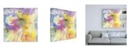 "Trademark Global Sheila Golde Dragonfly Floral Canvas Art - 36.5"" x 48"""